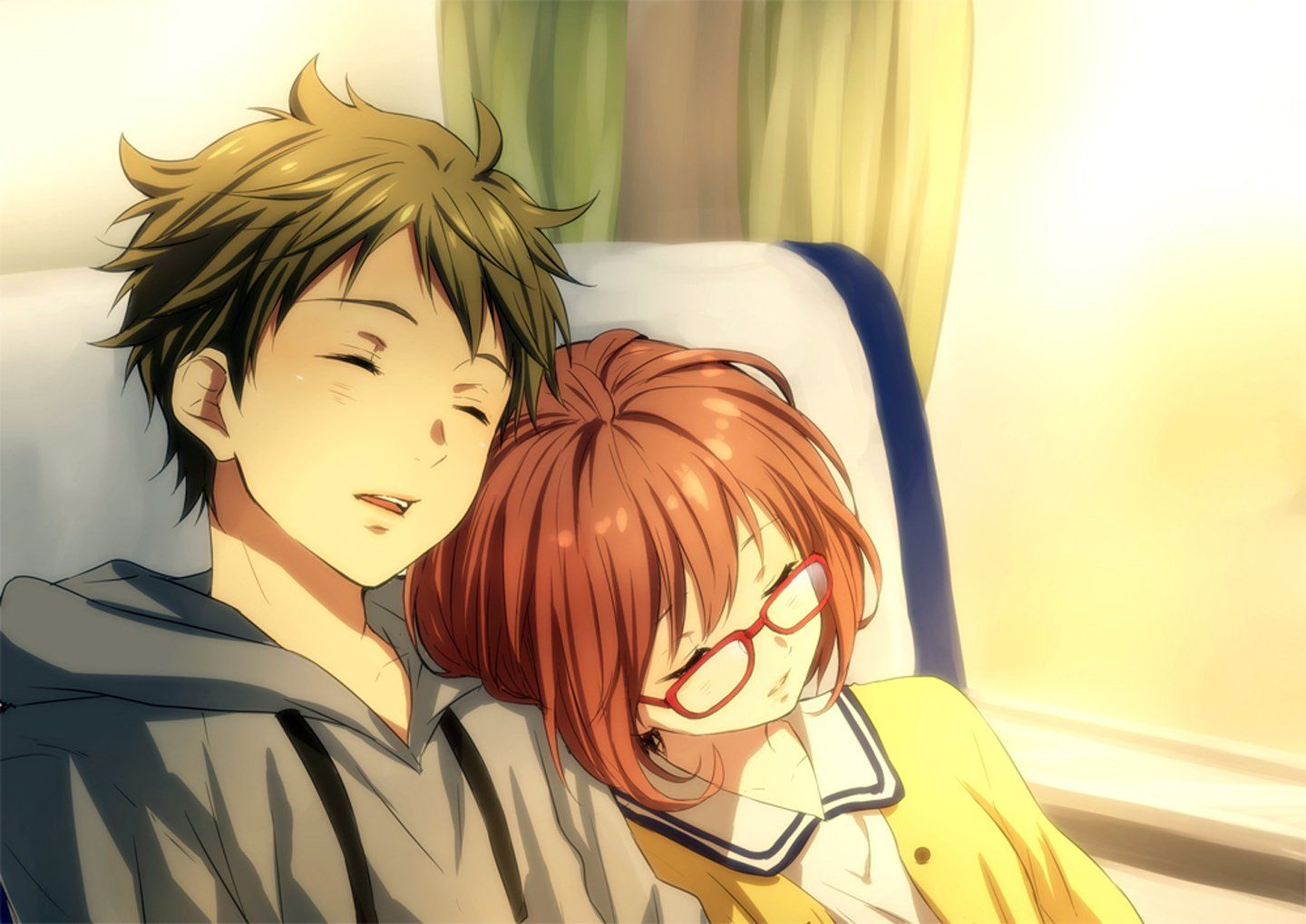 Anime couple in bed images
