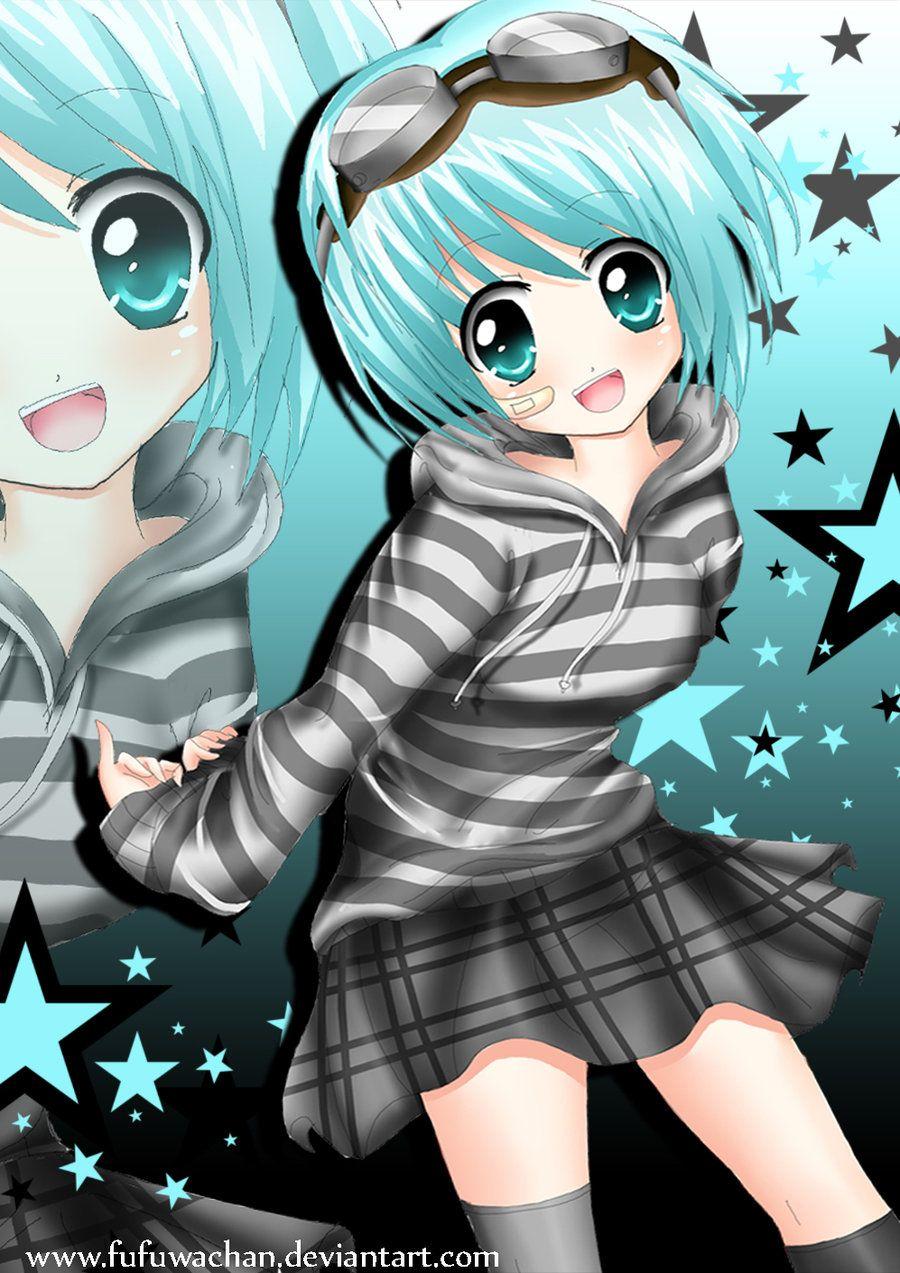 silver Anime hair woman