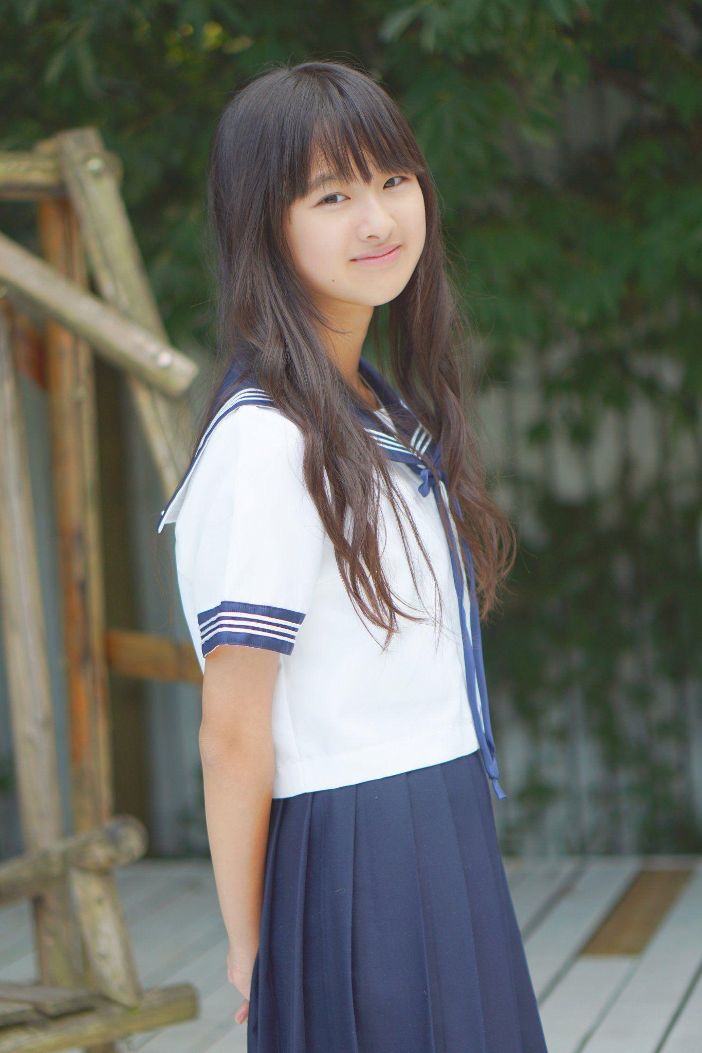 Asian black uniform panties