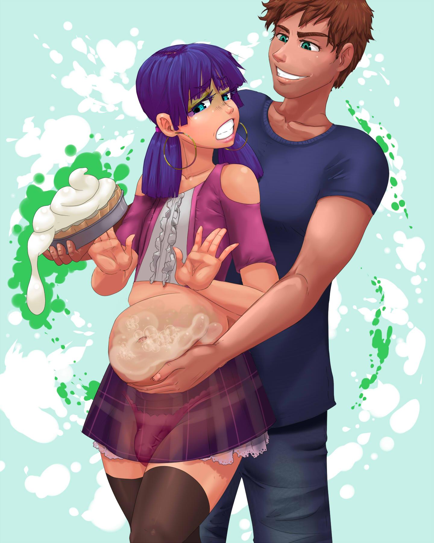 pie Anime cream