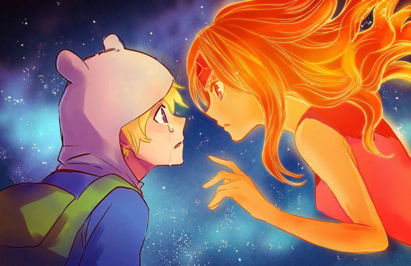 flame Finn anime and princess
