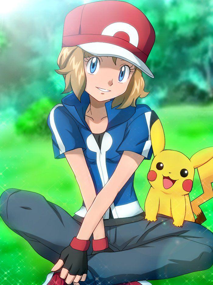 serena anime and Ash