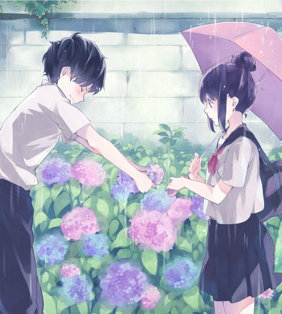 Shy girl romance anime