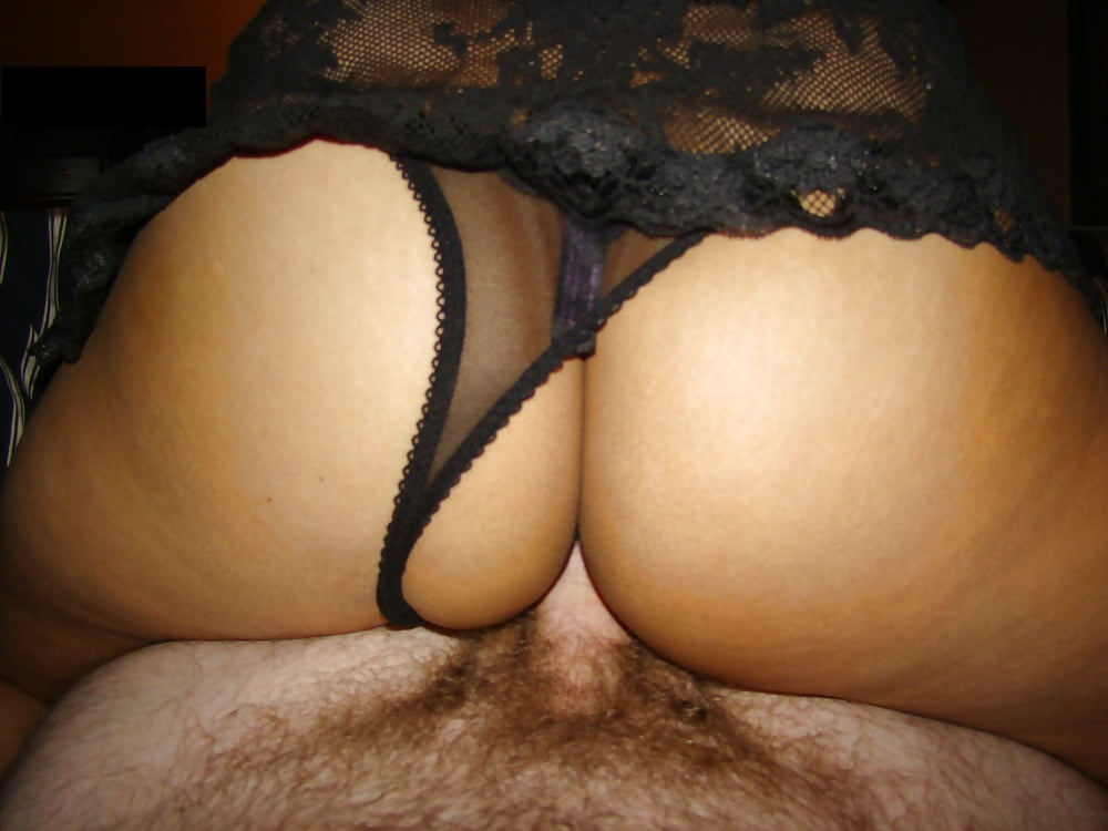 Asian wife black panties