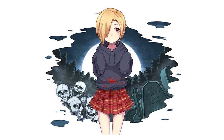 and with black hair eyes hazel girl Anime