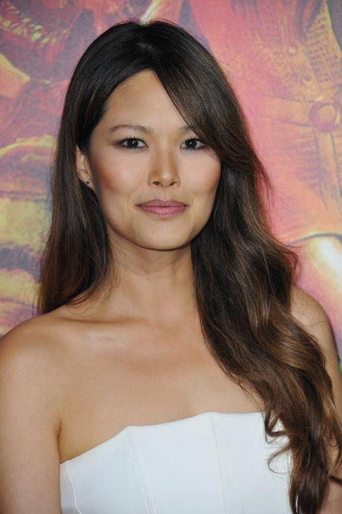cute Asian secretary long hair