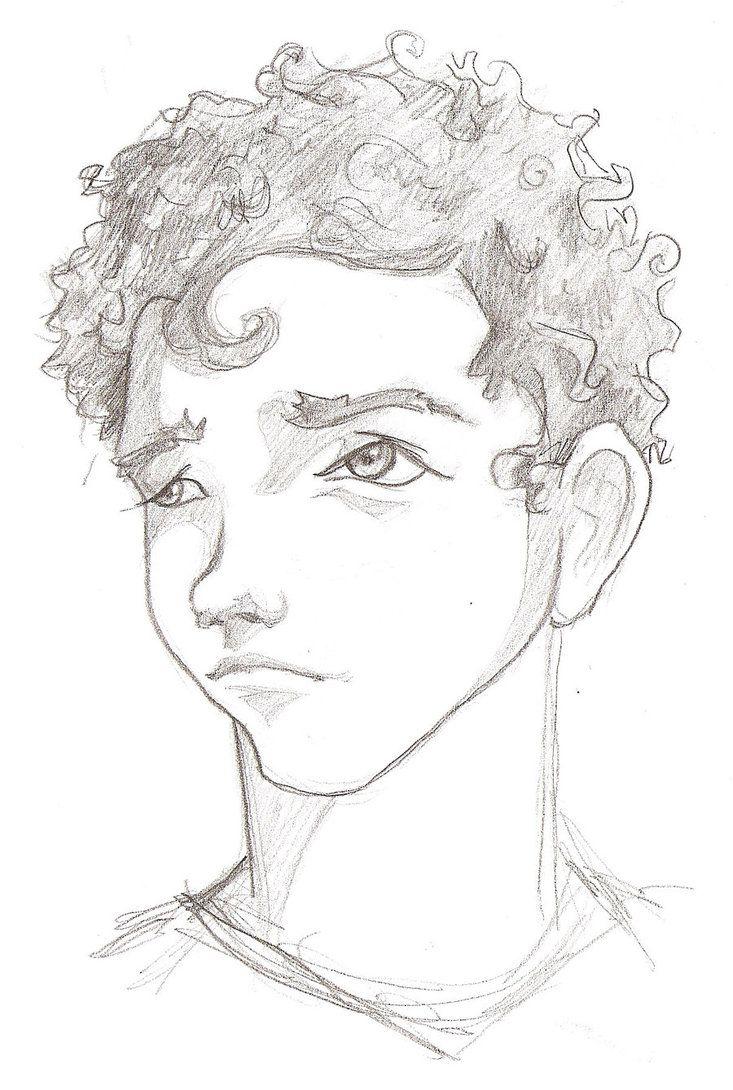 anime boy hair Curly