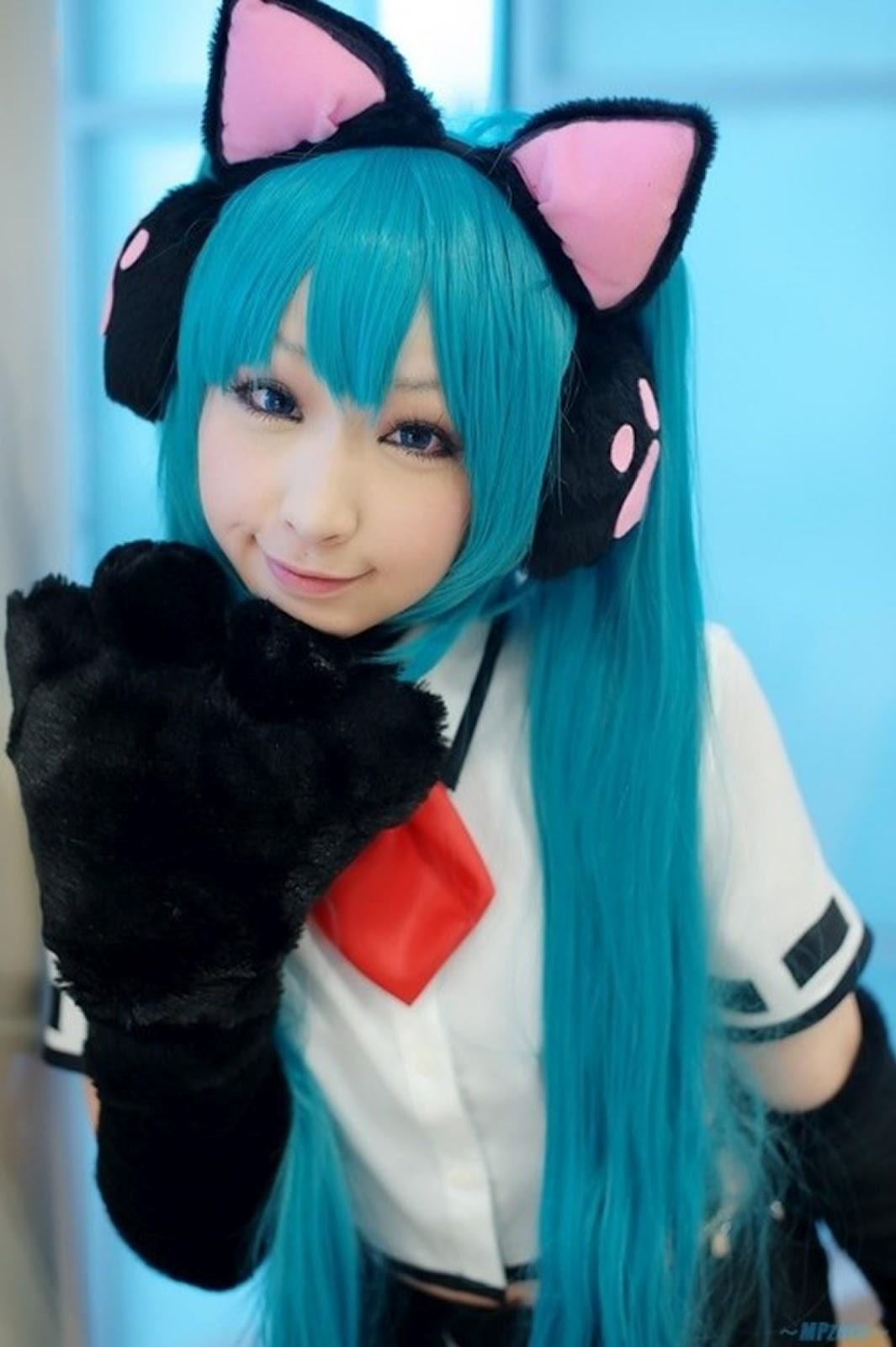 girl cat costume in Anime