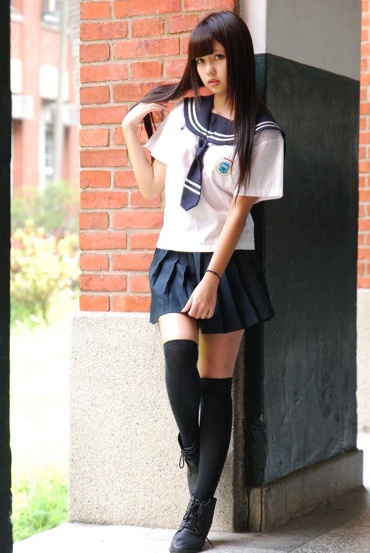 uniform Asian panties casting