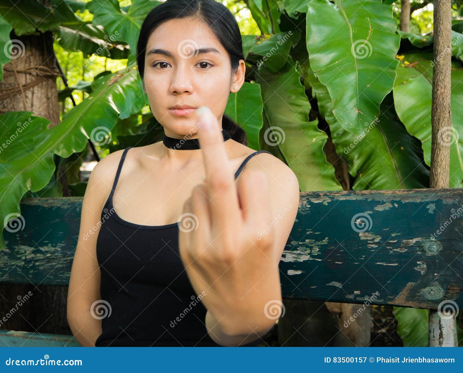 casting otngagged asian Woman