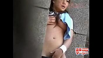 Asian outdoor butt voyeur