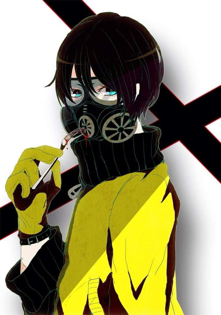 guy mask Anime gas