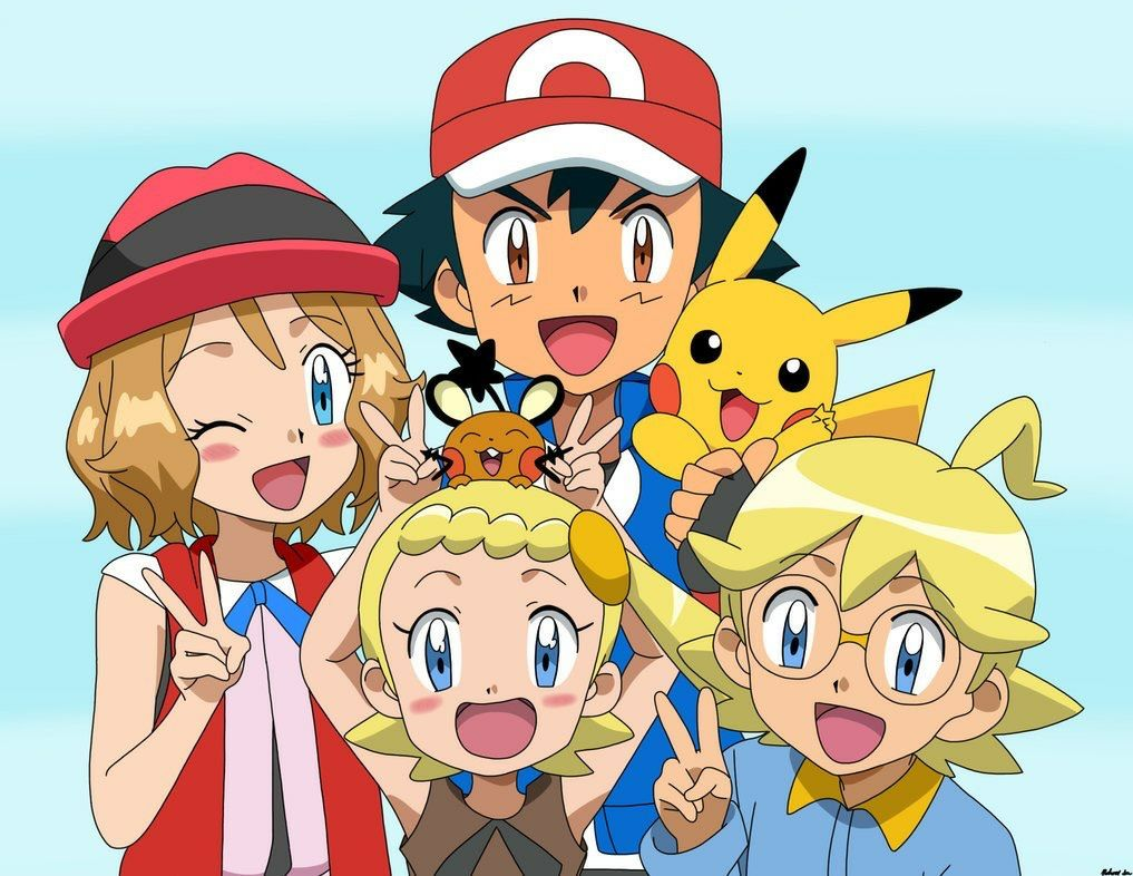 Ash and serena anime