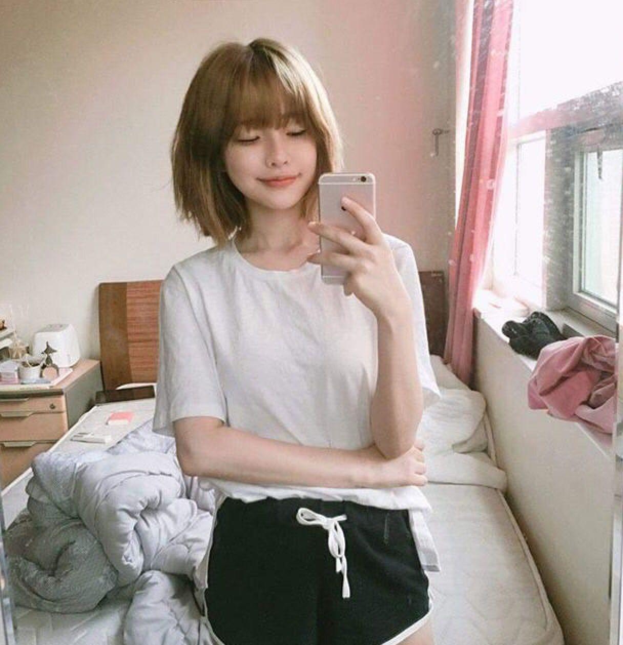 Asian short hair webcam otngagged