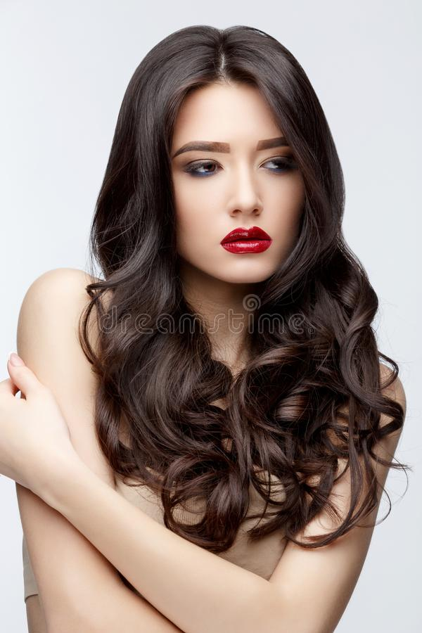 Asian skinny long hair curly
