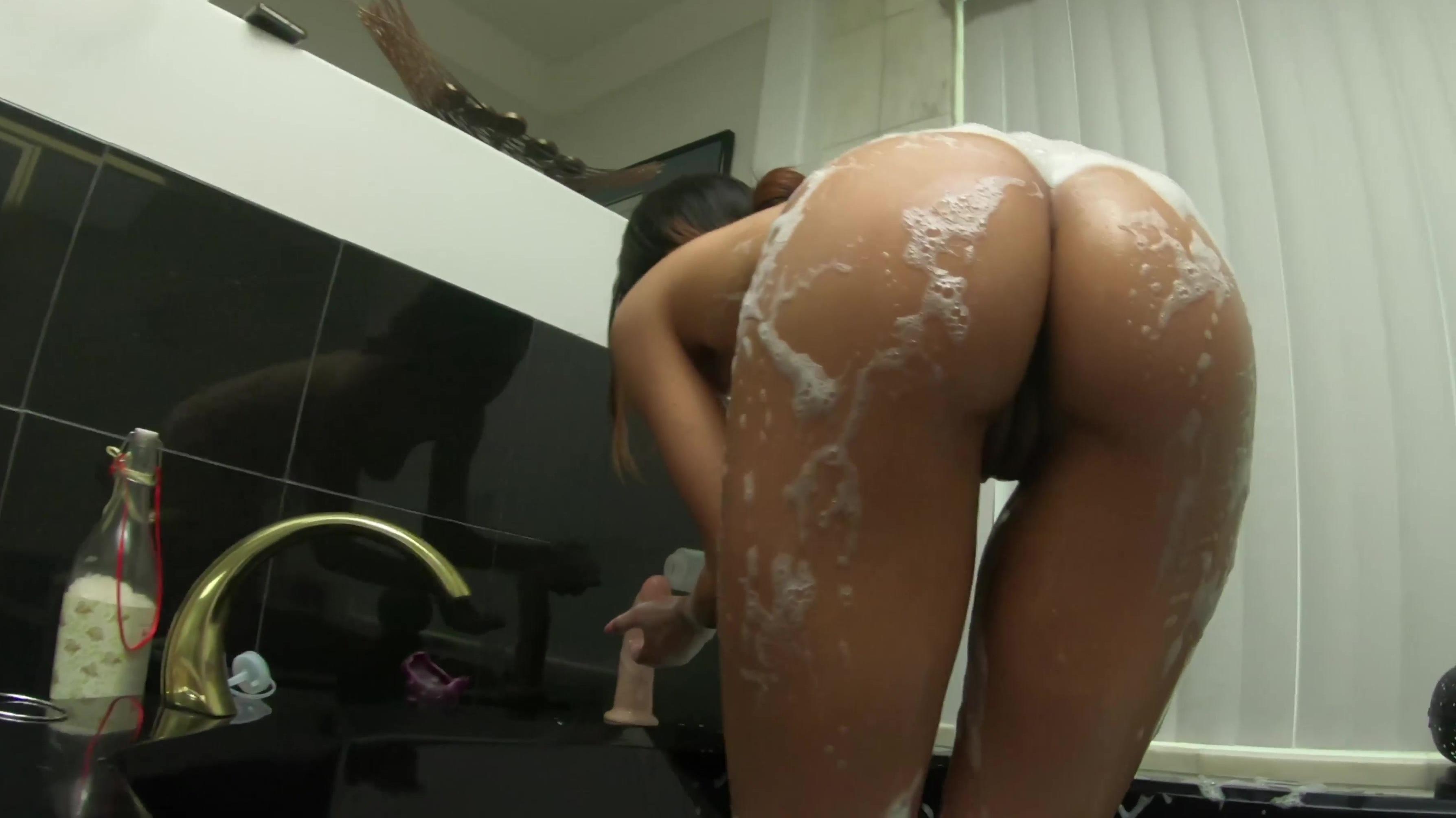 Asian wife panties butt
