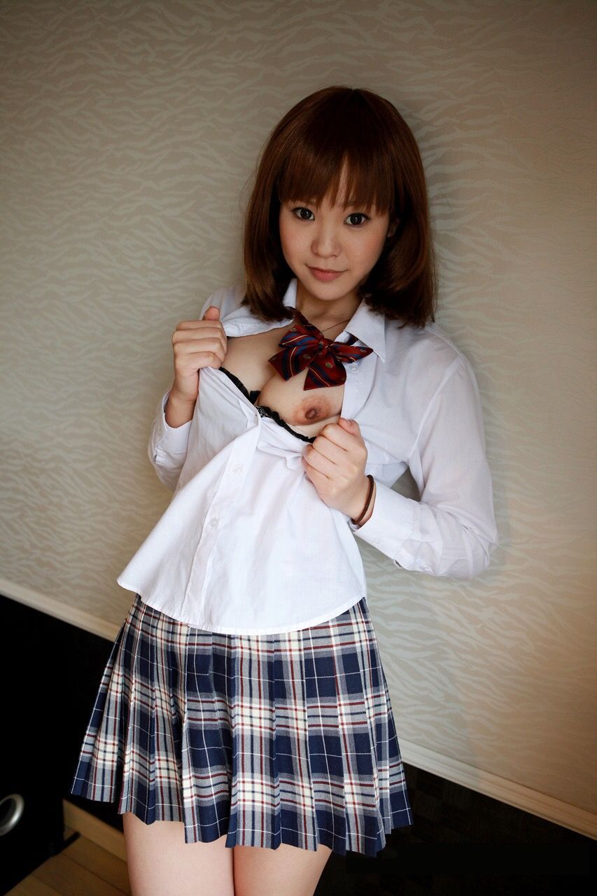 Casting uniform asian panties