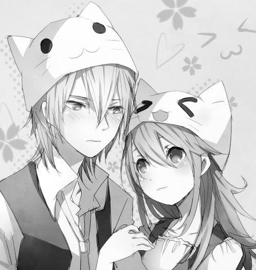 neko couples anime Cute