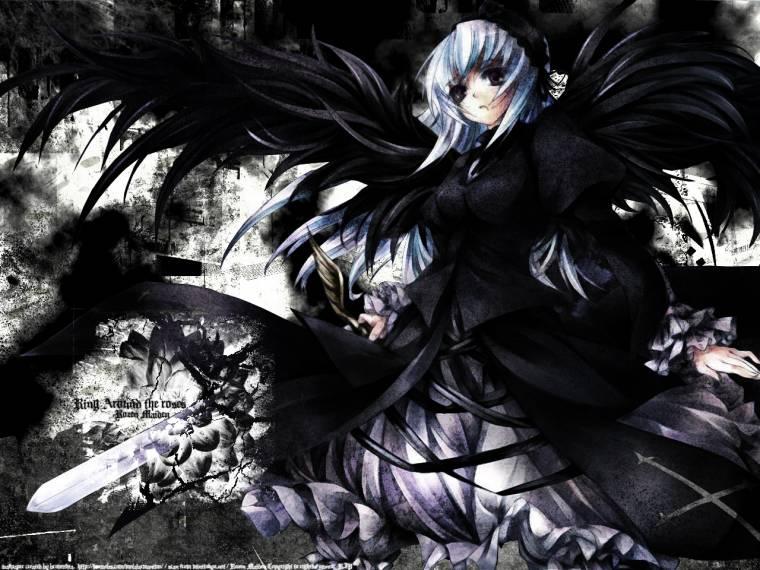girl Dark angel anime