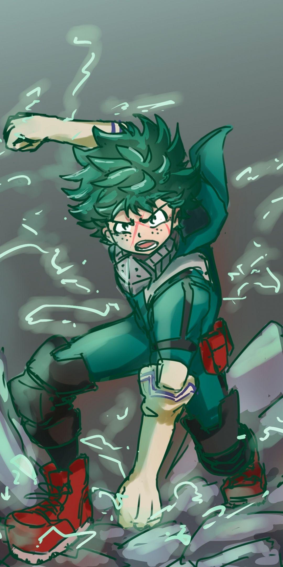 hair anime guy Green