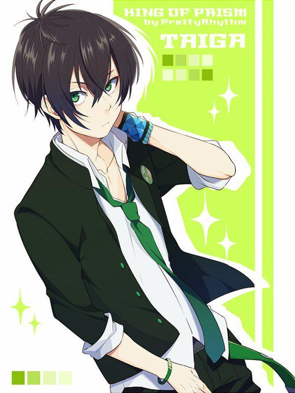 Green hair anime guy