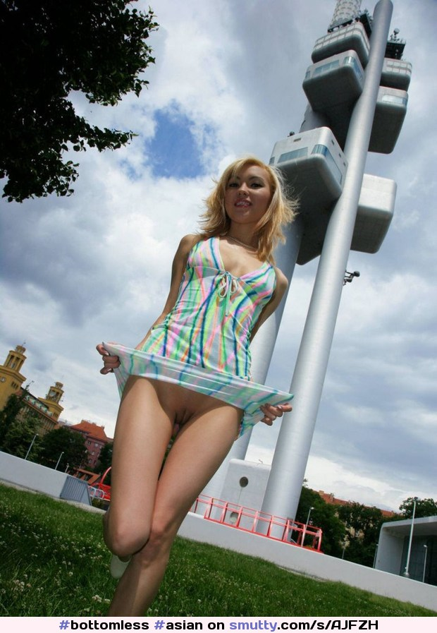 blonde Uncut asian outdoor